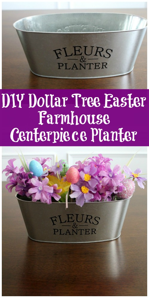 DIY Dollar Tree Easter Farmhouse Centerpiece Planter