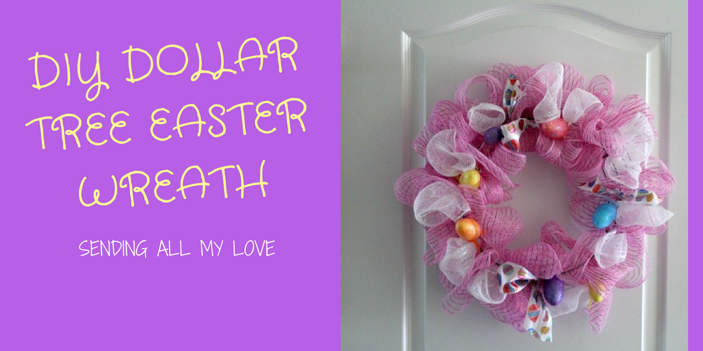 Budget Friendly Dollar Tree Easter Wreath