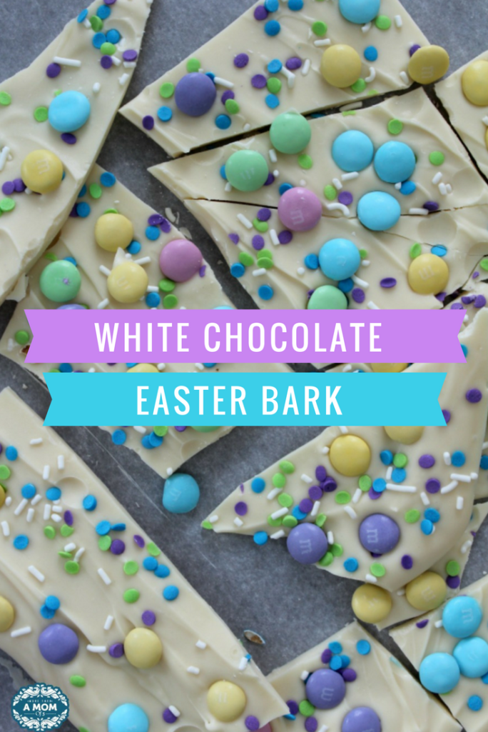Looking for a sweet treat for Easter? Look no further! This is The Easiest Easter White Chocolate Bark with M&M's and sprinkles.