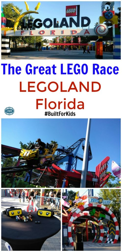 The Great LEGO Race Opens at LEGOLAND Florida. LEGOLAND'S first virtual reality roller coaster built for kids! #BuiltForKids