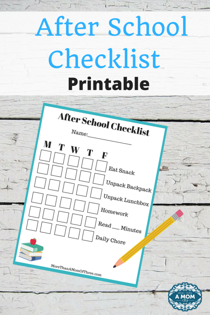 image about After School Schedule Printable referred to as No cost Printable At the time College Record - Much more Than A Mother Of 3