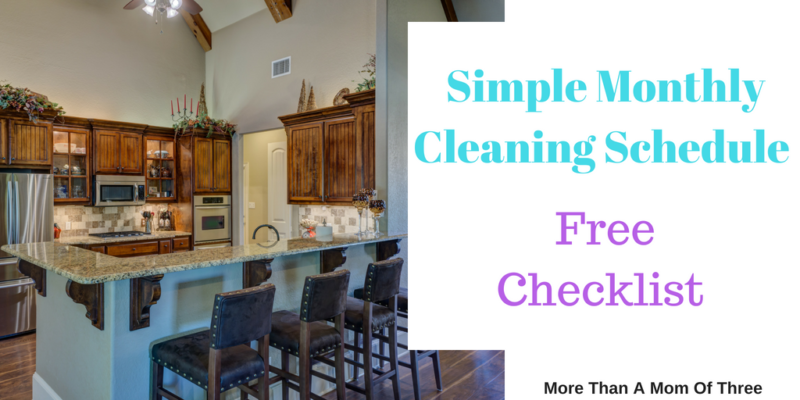 Simple Monthly Cleaning Schedule + Printable
