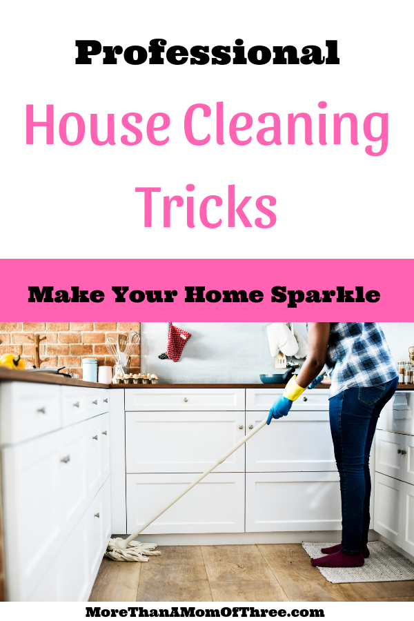House cleaning tricks to clean your house like a pro in less time.