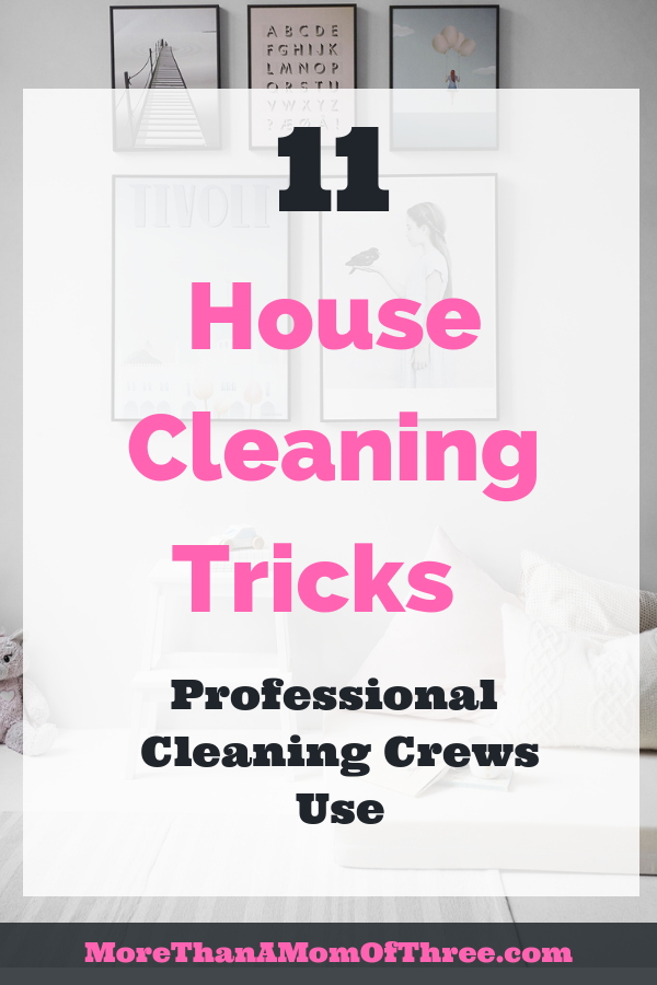 house cleaning tricks to clean your house like a pro in less time