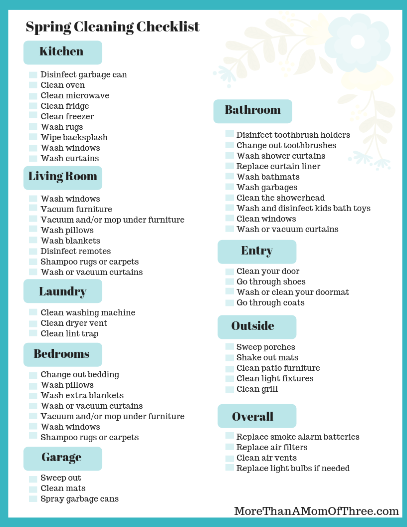 photo regarding Spring Cleaning Checklist Printable identified as Uncomplicated Spring Cleansing Guidelines + Spring Cleansing Record - Even further