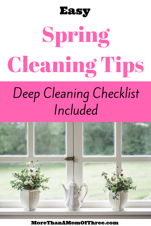 Deep cleaning your home does not have to be overwhelming. These easy spring cleaning tips along with a spring cleaning checklist will help get the job done!