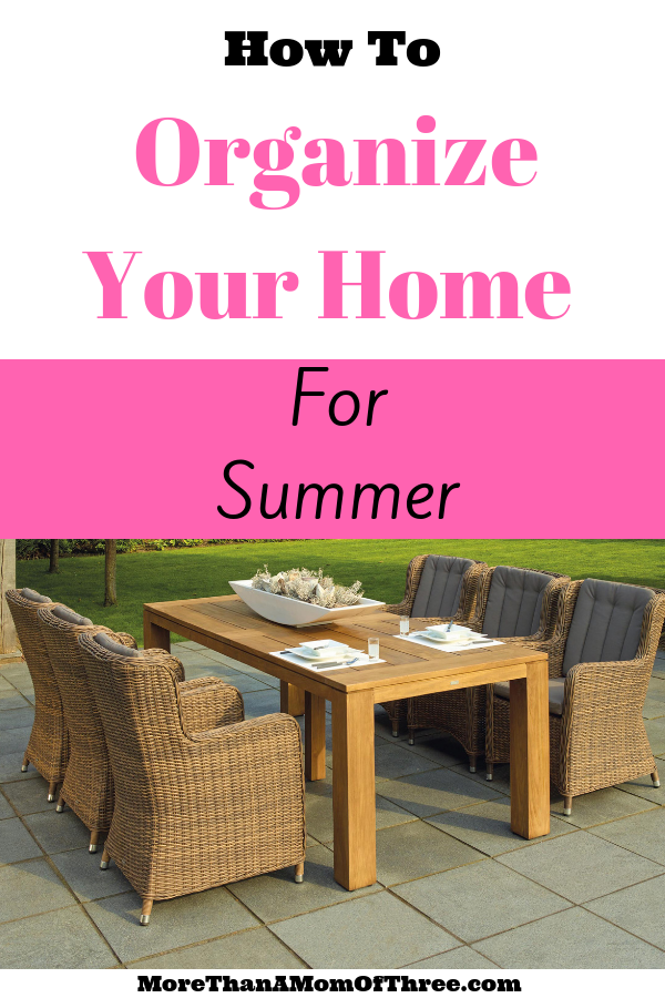 7 simple tips to organize your home for summer now so you can spend less time worrying about where things are and more time having fun with your kids.