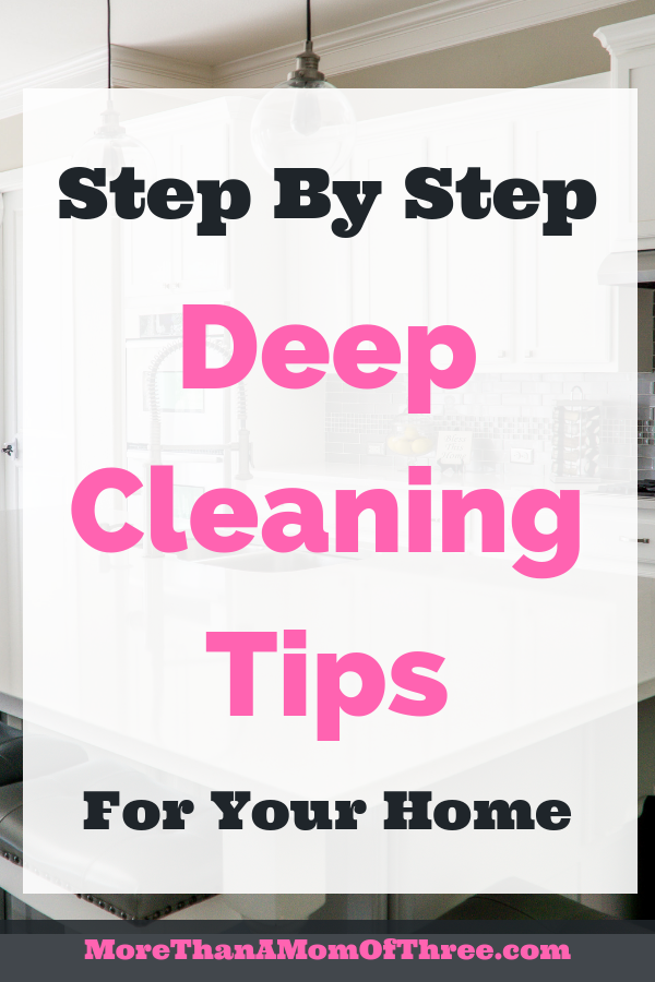 Here are 6 deep cleaning tips before you start deep cleaning your house. Plus a 7 day cleaning schedule how to deep clean your house.