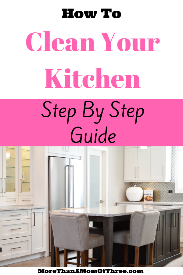Want to know the secret on how to keep your kitchen clean all the time? Here is my step by step weekly kitchen cleaning routine that takes 30 mins or less!