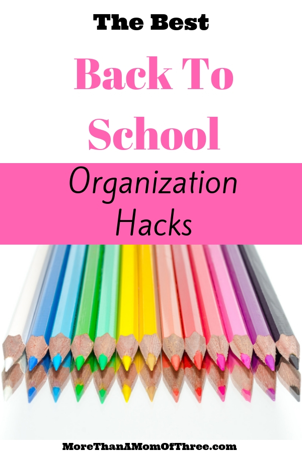 15 amazing back to school hacks for an organized school year. Tips, tricks and time-saving ideas for school lunches,organization and routines.