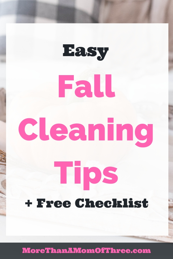 Deep cleaning your home does not have to be overwhelming. These easy fall cleaning tips along with a fall cleaning checklist will help get the job done!