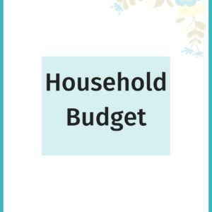 Packed with 13 pages of budgeting worksheets! This household budget planner will help make sure your bills are paid on time, a fun way to track your savings and pay down debt.