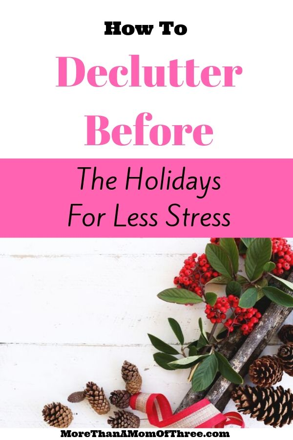 Declutter For The Holidays now to save you tons of time and save your sanity for the holiday season. Here are 8 places to declutter before the holidays.