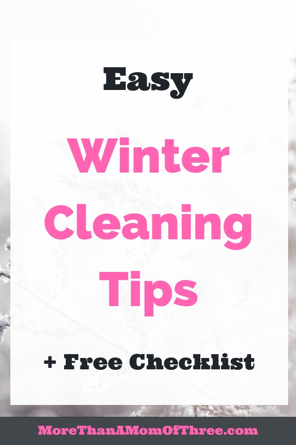 Seasonal cleaning your home does not have to be overwhelming. These easy winter cleaning tips along with a winter cleaning checklist will help get the job done!