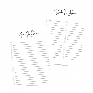 Get It Done Printable To Do List
