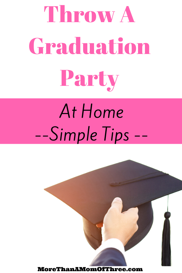 how to throw a graduation party at home